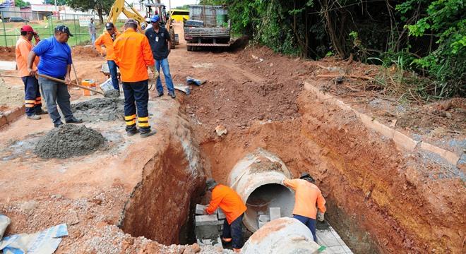 Os moradores do conjunto sofriam enormes transtornos, especialmente em dias de fortes chuvas (Crédito: Imagem Ilustrativa)