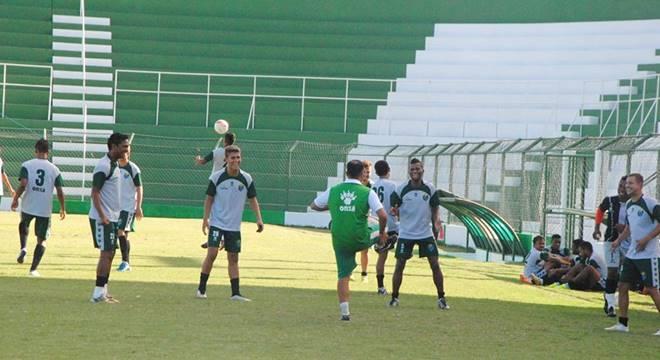 Coruripe volta aos trabalhos no estádio Gerson Amaral (Créditos: Reprodução/Ascom-Coruripe)