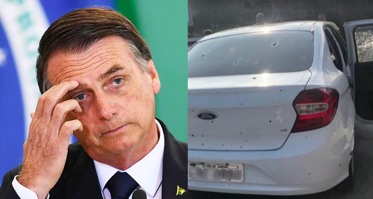 Jair Messias Bolsonaro / Veiculo Fuzilado por militares