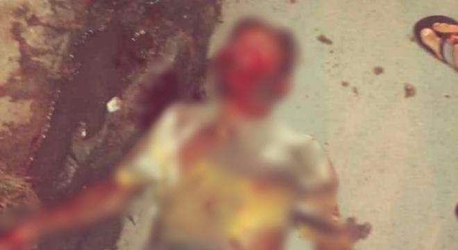 O suspeito teria cometido assaltos nas proximidades da Feirinha do Tabuleiro, mas acabou sendo flagrado e contido por populares (Crédito: Cortesia)