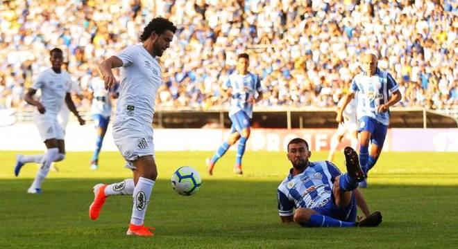 CSA e Santos empatam no jogo valido pela terceira rodada da Série A do Brasileiro (Créditos: Itawi Albuquerque)