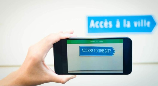 Nova atualização do Google Tradutor realizará tradução através da câmera do smartphone © Reprodução/Internet