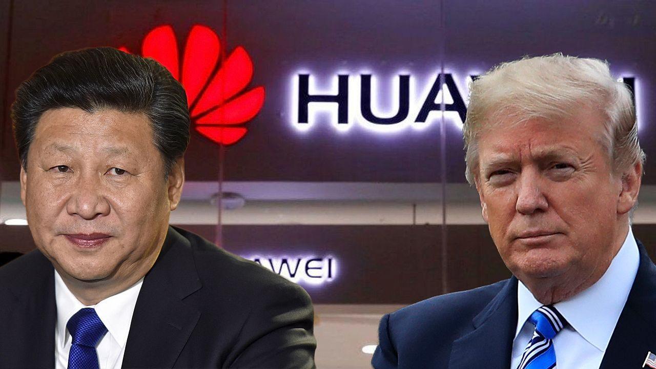 Donald Trump e Ren Zhengfei fundador da Huawei © Reprodução/Internet
