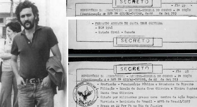 Fernando Augusto de Santa Cruz Oliveira, desaparecido em 1974, durante a ditadura militar — © Reprodução
