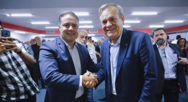 Governador de Alagoas Renan Filho e o ex-governador Ronaldo Lessa — © Márcio Ferreira