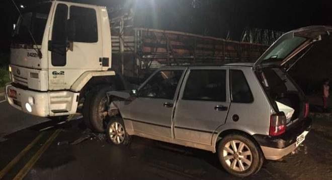 O acidente foi registrado por volta das 01h40, no Povoado Cabreiras — © Cortesia