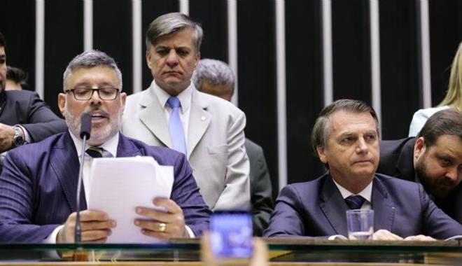 Alexandre Frota e o presidente Jair Bolsonaro — © Michel Jesus