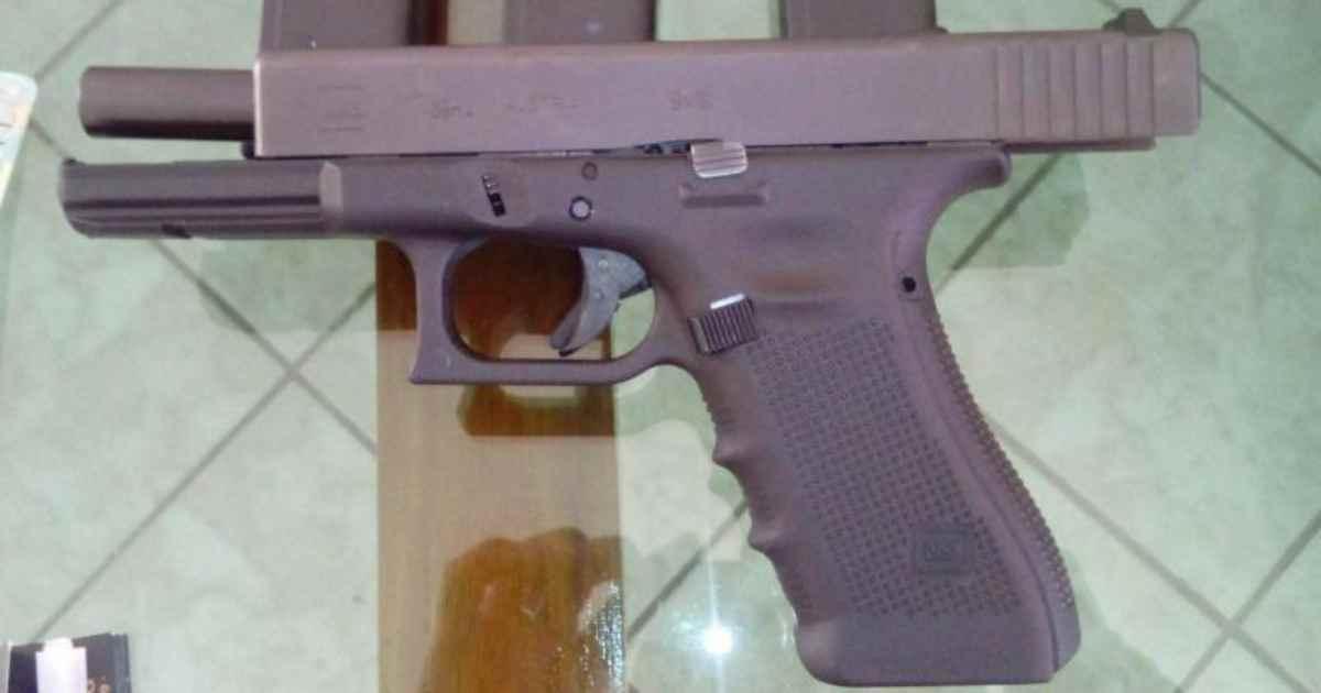 Arma usada na morte do pastor Anderson do Carmo