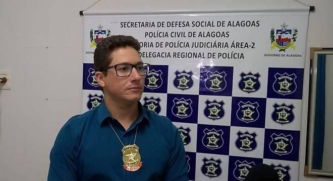 Delegado Igor Diego, titular do 91° Distrito Policial de Porto Calvo — © Júnior Silva