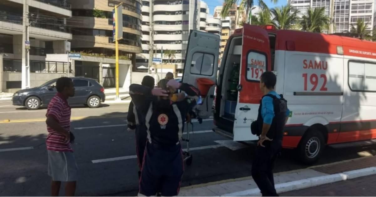 A vitima deu entrada no Hospital Geral do Estado (HGE) em estado grave — © Polícia Civil