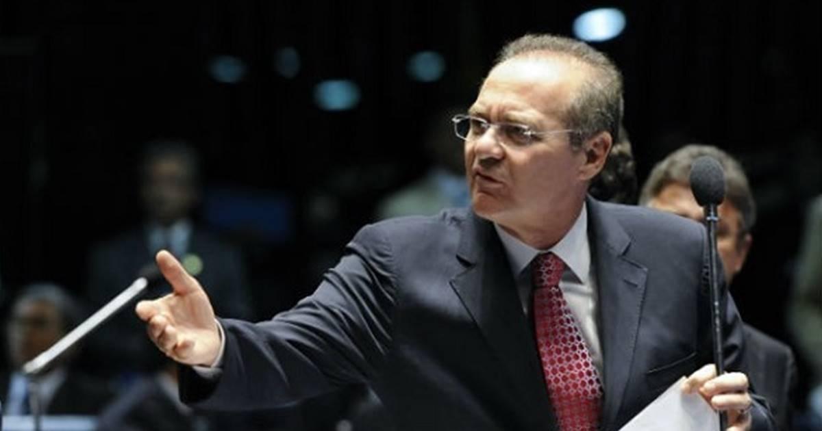 """Psicopata confesso"""", disse Renan Calheiros sobre Janot — © Reprodução"""