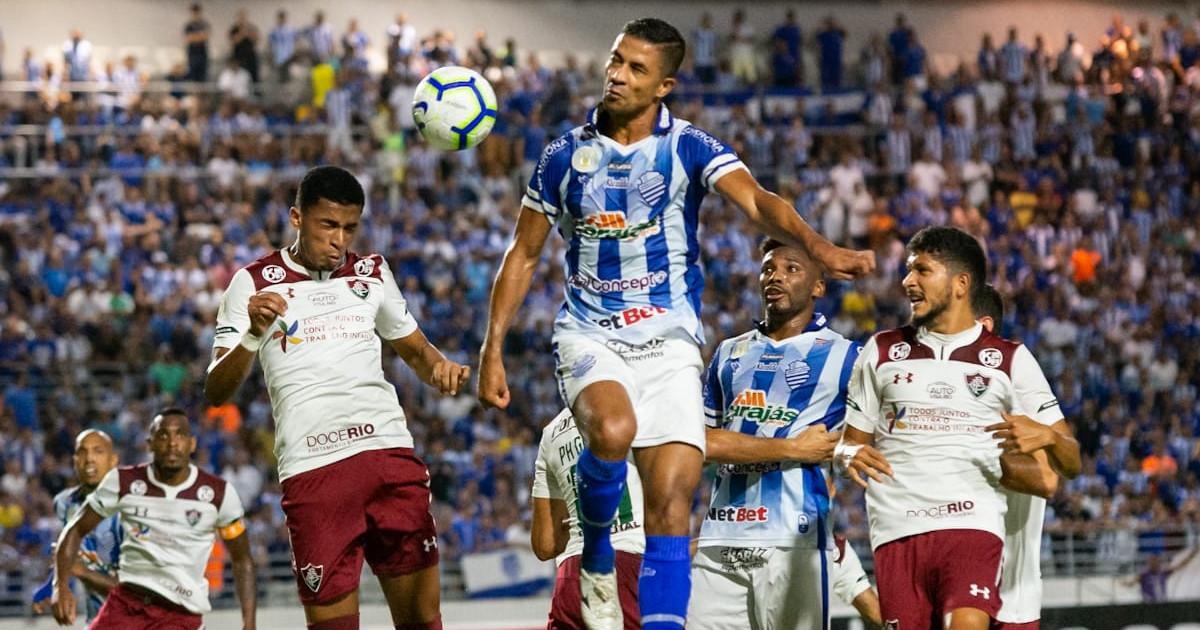CSA perde para o Fluminense por 1 a 0 no estádio Rei Pelé — © Ascom/CSA