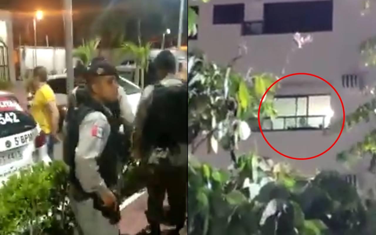 Avô foi detido e conduzido para a Central de Flagrantes I — © Reprodução/Vídeo