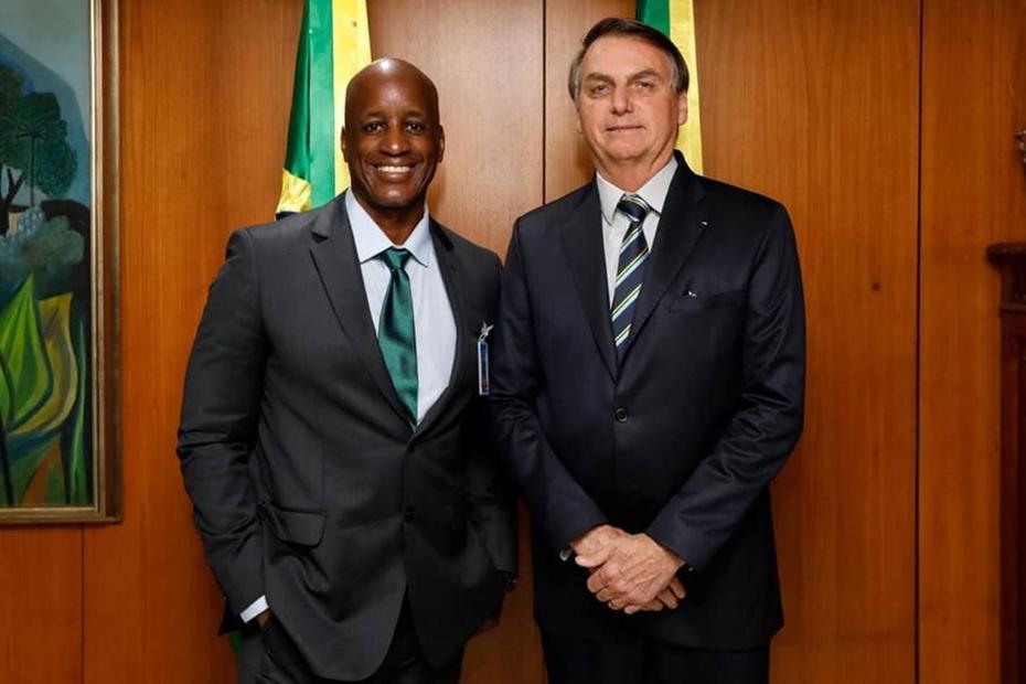 Sergio Camargo e o presidente Jair Bolsonaro