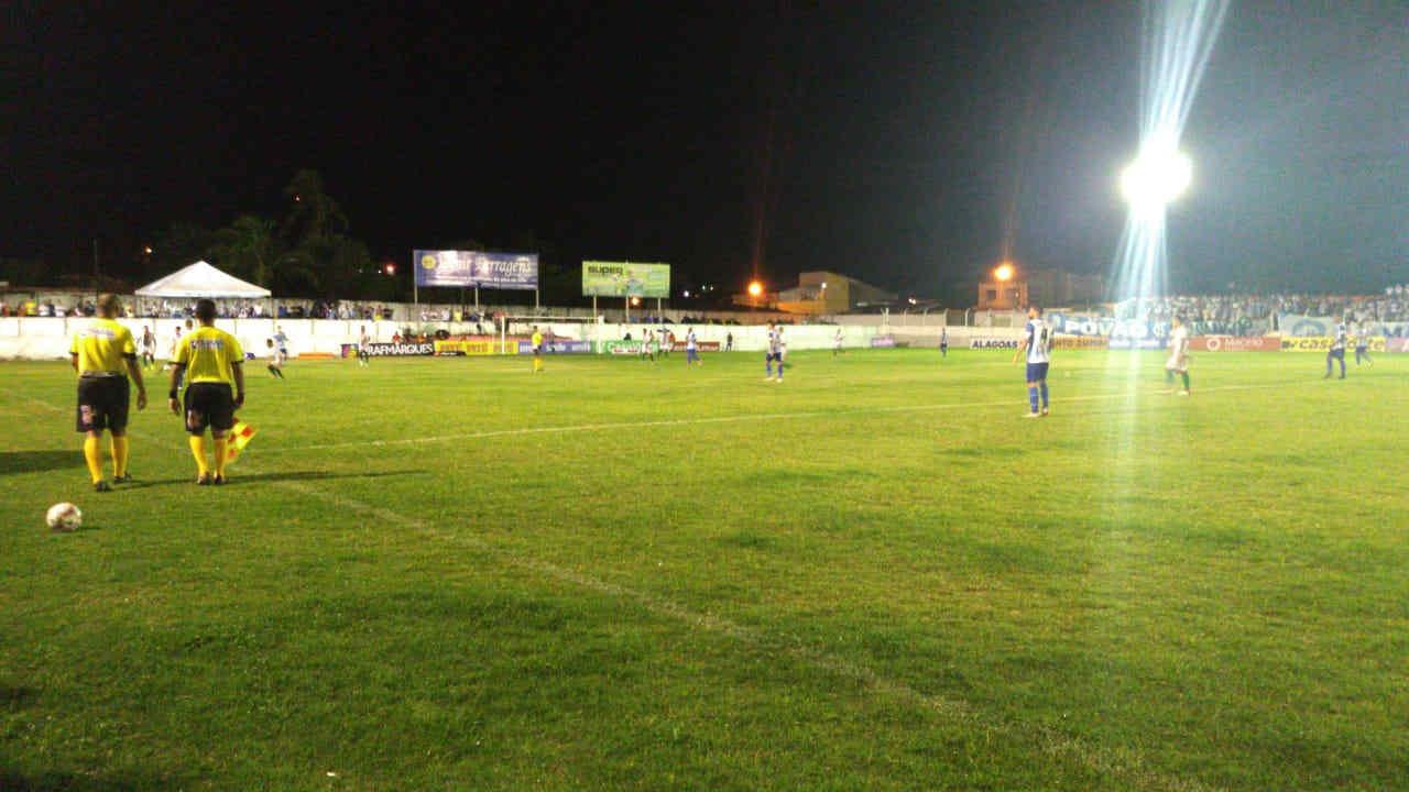 Partida entre CEO e CSA no estádio Edson Matias — © Reprodução