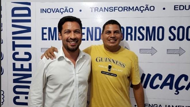 Senador Rodrigo Cunha e vereador Cajú