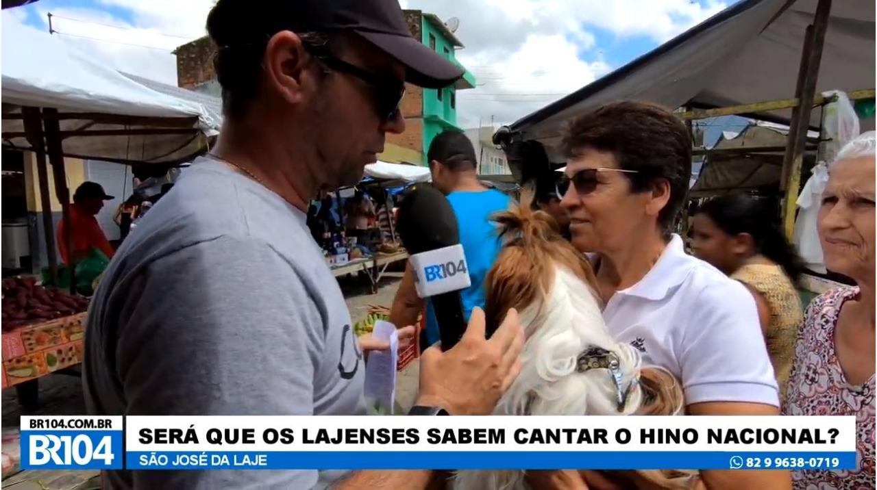 Alexandre Tenório entrevista moradores de São José da Laje Alagoas — © Reprodução