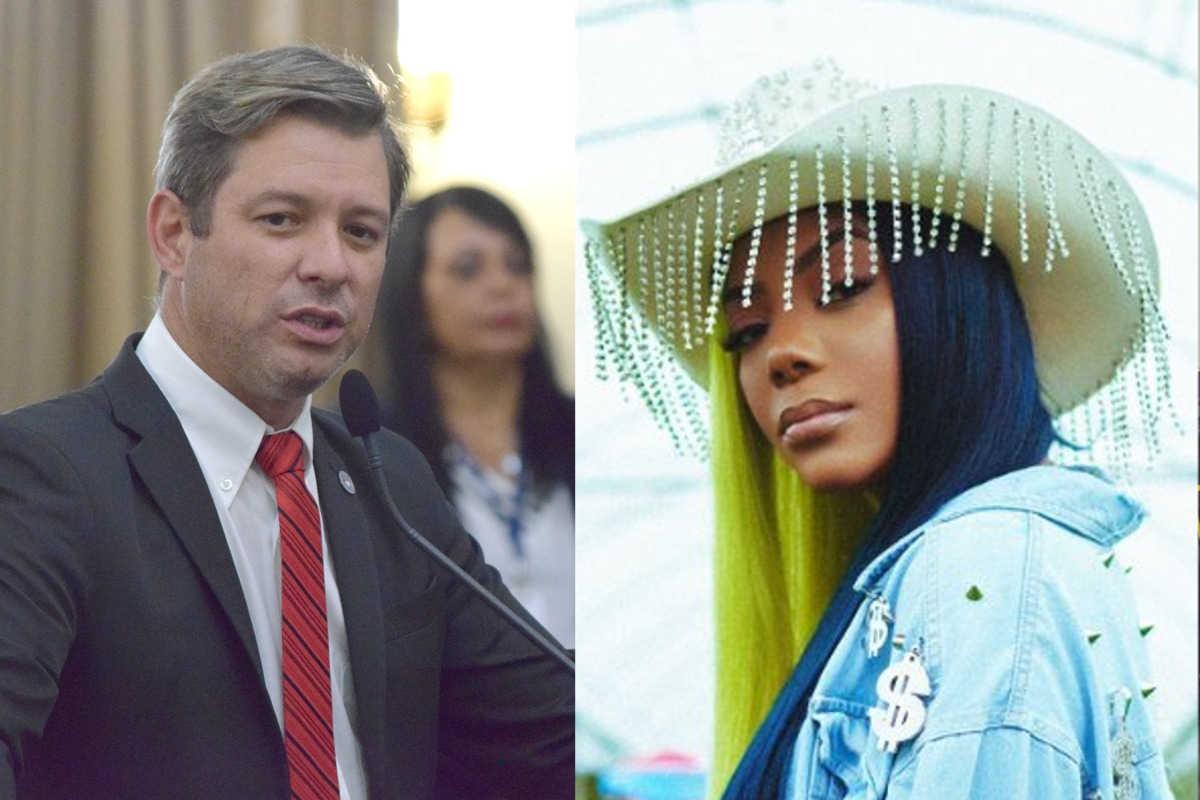 Ludmila e deputado Cabo Bebeto (PSL-AL) — Reprodução