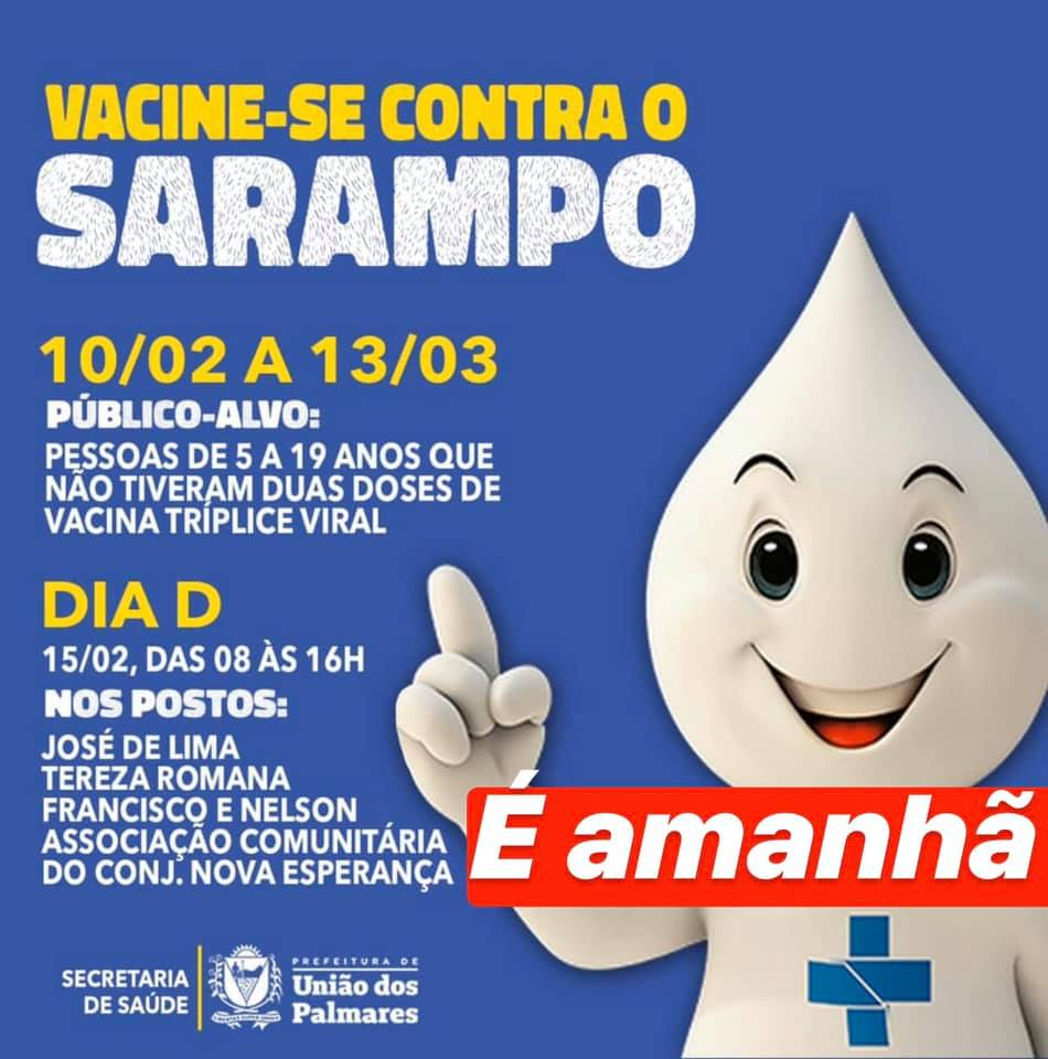 Campanha contra nacional contra o sarampo — © Reprodução