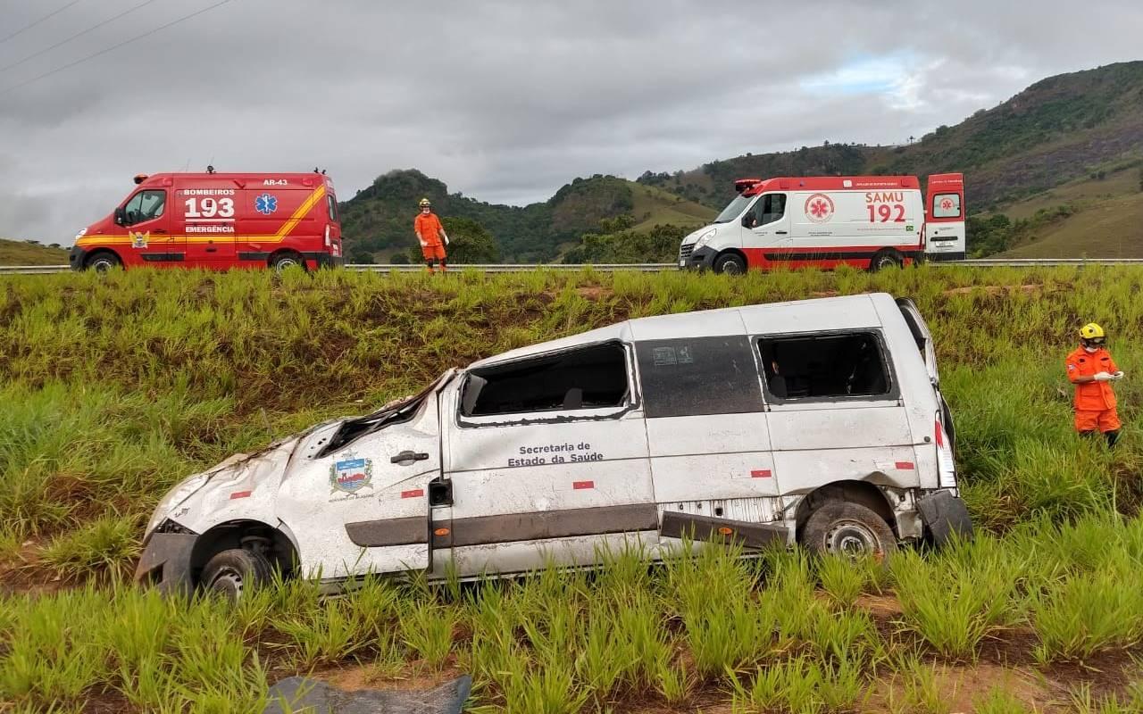 Acidente em Novo Lino — © Corpo de Bombeiros