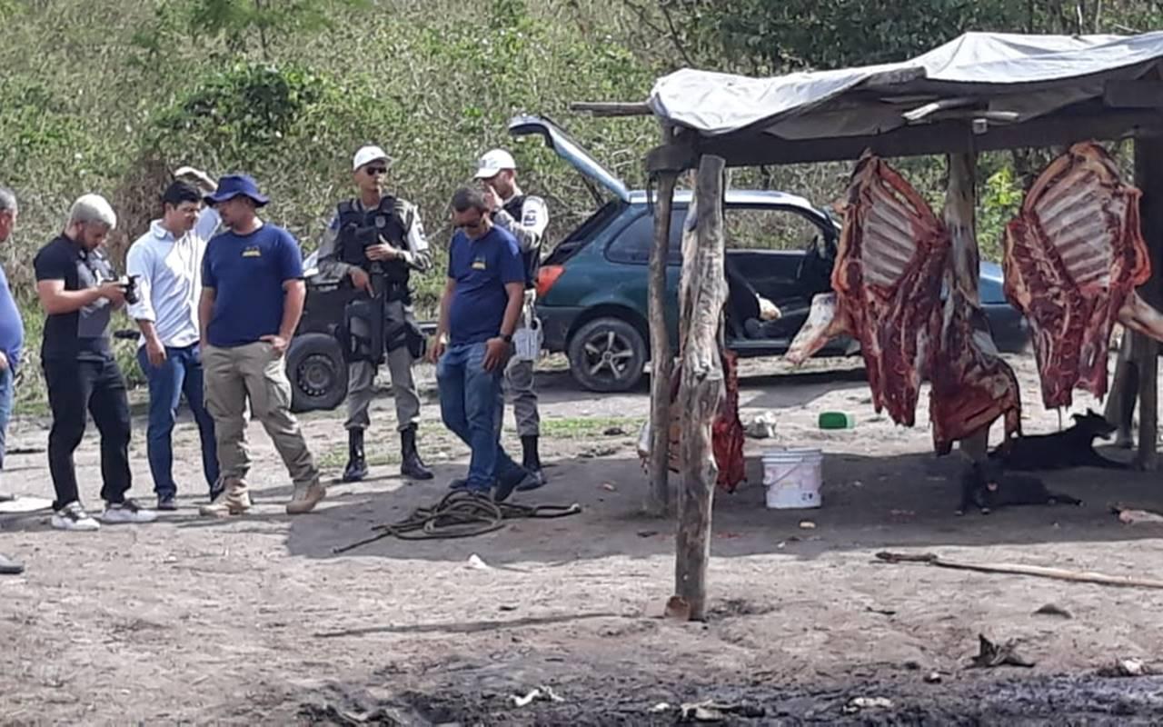 Ação do BPRv e da Adeal fechou matadouro clandestino — © BPRv