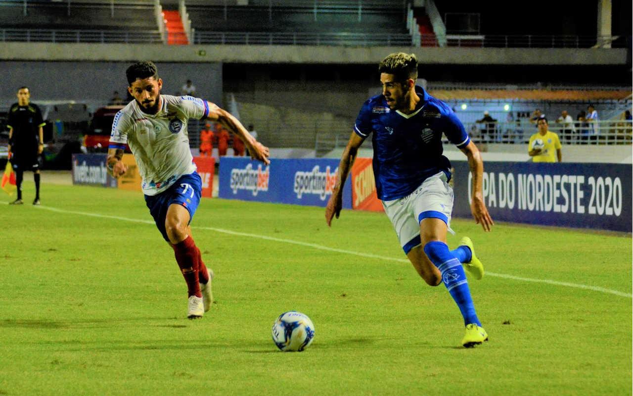 CSA perde para o Bahia por 2 a 0 pela quinta rodada da Copa do Nordeste — © Reprodução