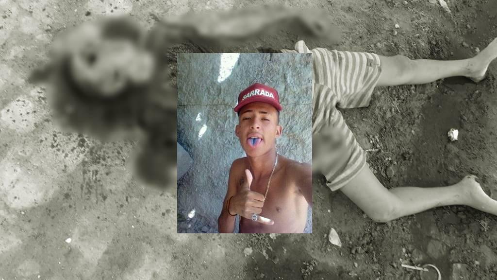 Jadson Dantas da Silva, de 16 anos, morto com diversas pedradas na região da cabeça — © Cortesia ao BR104