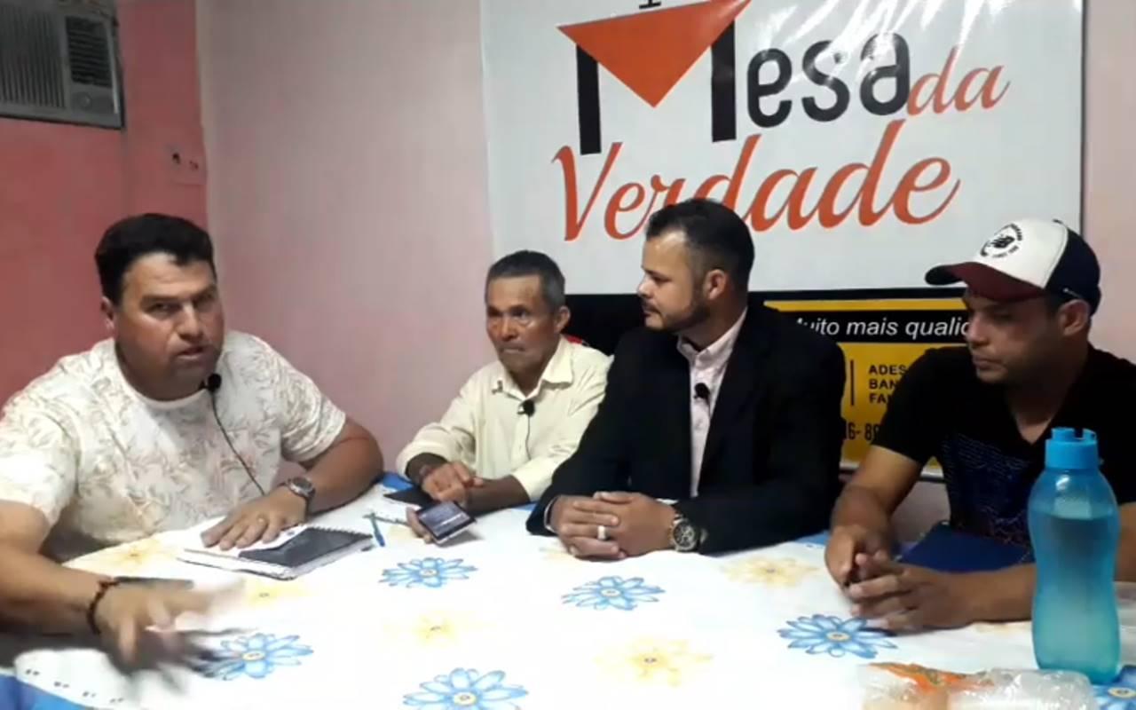 Jaiminho durante entrevista ao Mesa da Verdade — © Reprodução/Vídeo