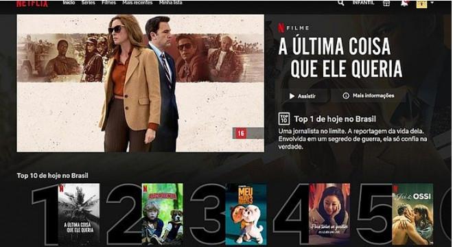 Lista dos filmes e séries mais assistidos da Netflix — © Reprodução