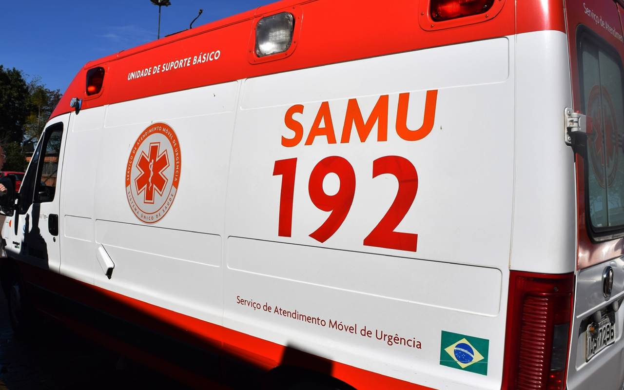 O Samu foi acionado e prestou socorro à vítima — © Ilustração