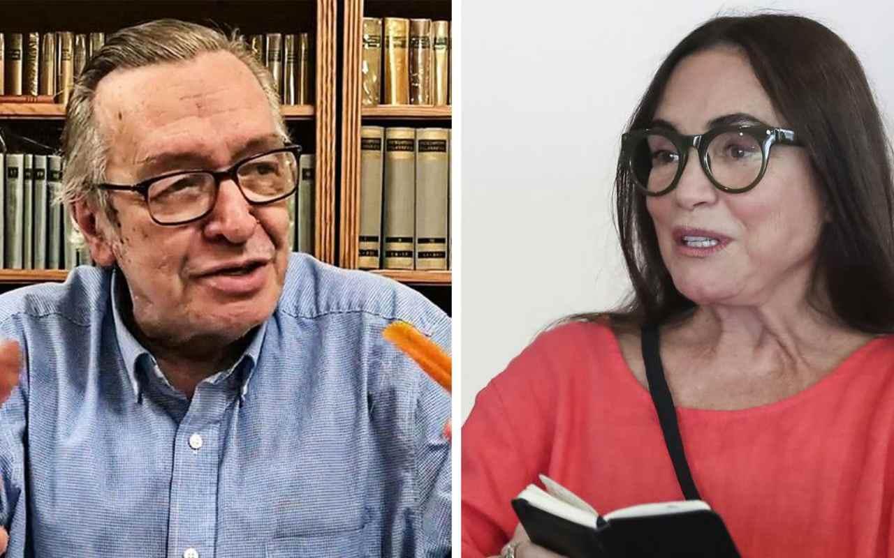 Olavo de Carvalho e Regina Duarte - @reprodução
