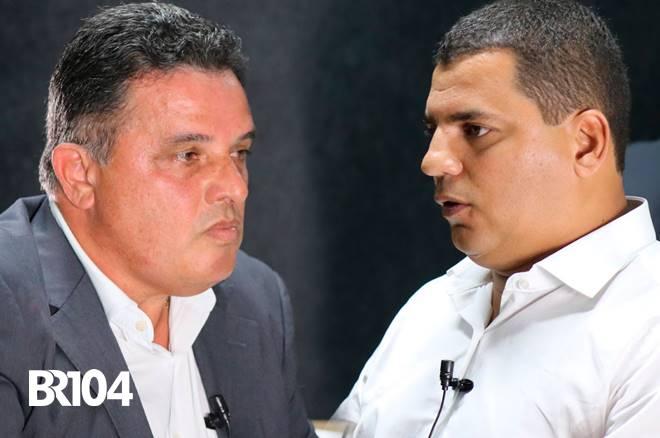 prefeito Areski Freitas e vereador Caju - @BR104