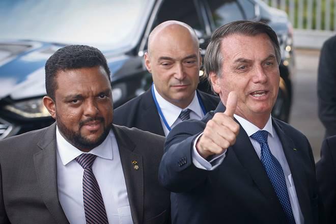 Deputado Otoni de Paula e o presidente Jair Bolsonaro