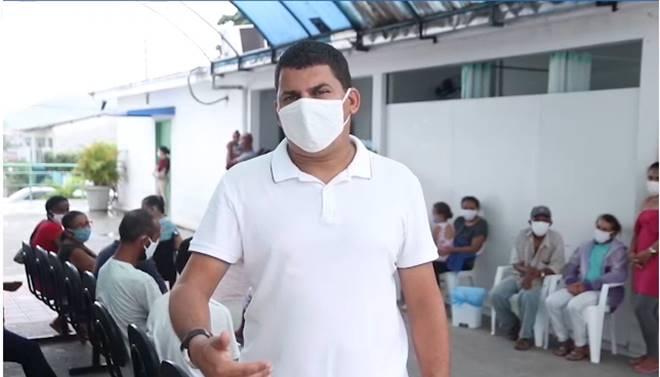 Vereador Caju (PSDB) no Hospital São Vicente de Paulo