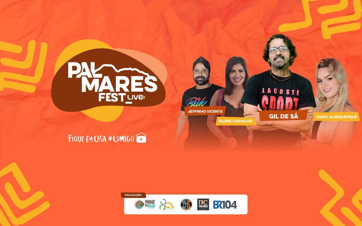 Banner de divulgação da Palmares Fest Live