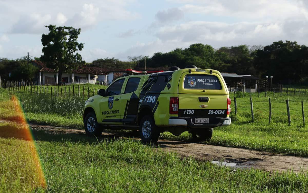 Policia Militar no local do crime