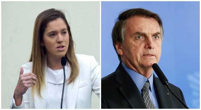 Deputada Cibele Moura e Jair Bolsonaro