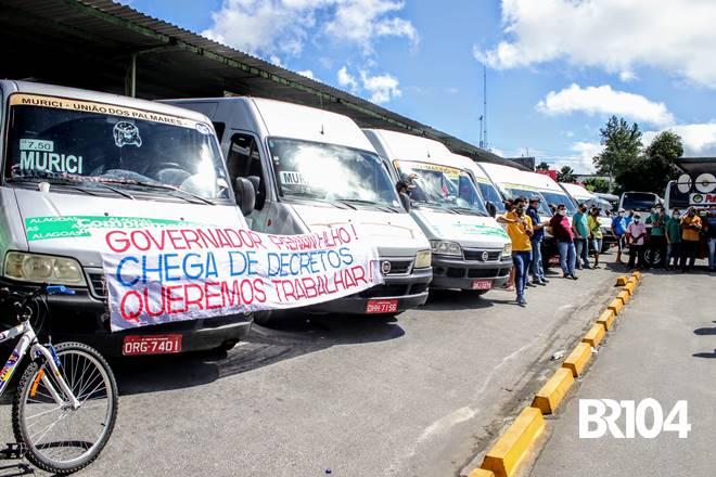 Manifestação dos motoristas de Transporte Complementar - @BR104