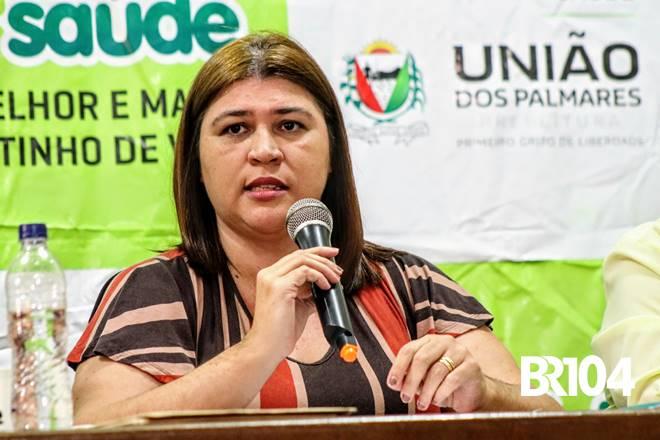 Secretária de Saúde de União dos Palmares, Geane Vergeti - @BR104