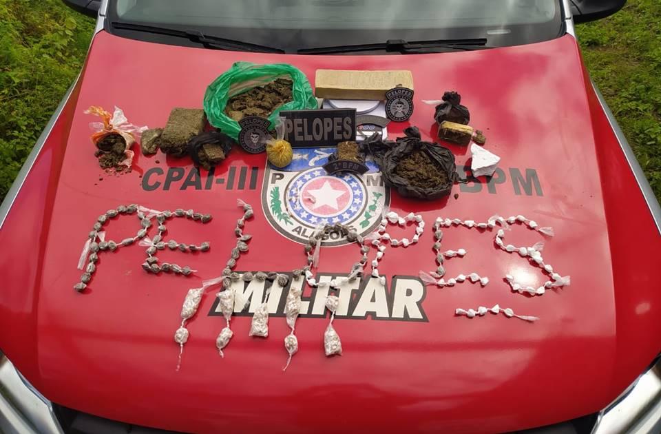 Droga recuperada pela policia militar - Cortesia