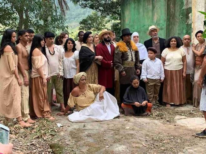 Início das gravações de Zumbi Quilombo dos Palmares
