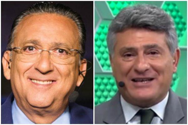 Galvão Bueno e Cléber Machado — © Reprodução
