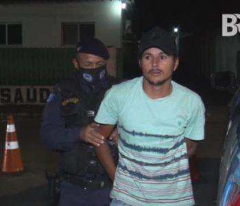 Homem preso pela guarda municipal de Ibateguara - BR104