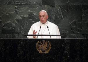 Papa Francisco desta situação da Amazônia em discurso na ONU — © Reprodução