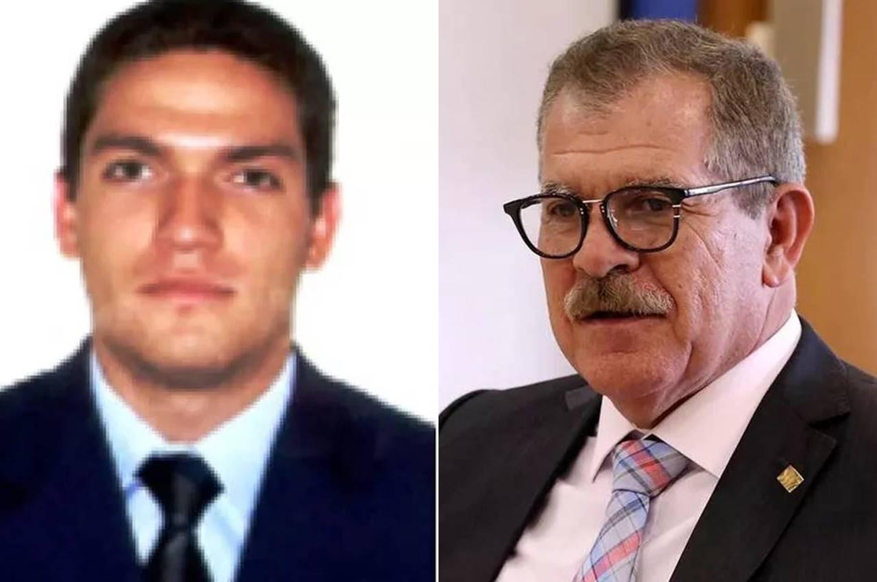 À esqueda, Eduardo Martins. À direita, o pai, ministro Humberto Martins — © Reprodução