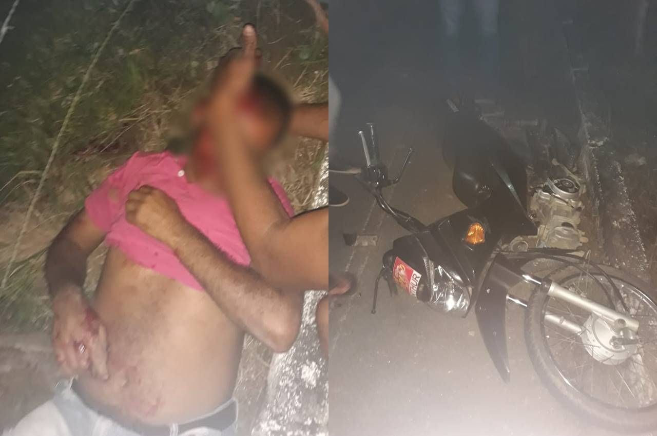 Acidente em Santana do Mundaú deixa uma pessoa ferida — © Cortesia ao BR104
