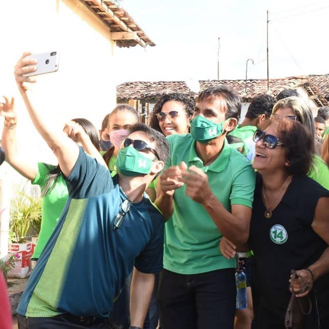 Marcos Silva em primeiro ato de campanha em Messias