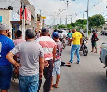 Colisão entre motocicletas deixa mulher ferida em União dos Palmares — © Gustavo Lopes/BR104