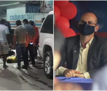 Imagem do acidente e o advogado Rivaldo Rodrigues