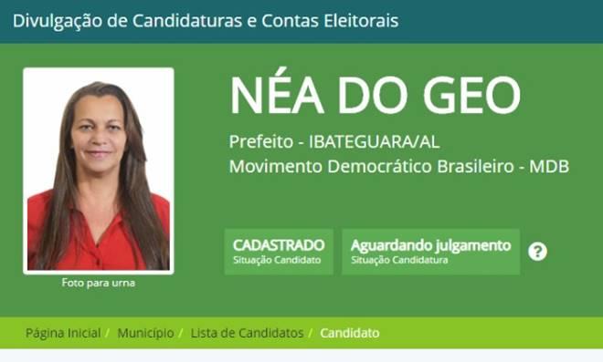 Néa do Gel - imagem da página do candidato